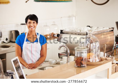 Cafe worker - stock photo