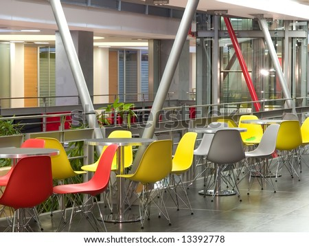 cafeteria - stock photo