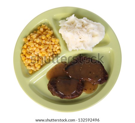 cafeteria meal tray w path - stock photo