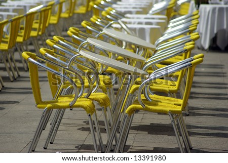 Cafeterian chairs - stock photo