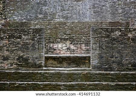 Cahal pech maya ruins archaelogical site cayo belize - stock photo