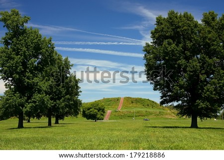 Cahokia mound - stock photo