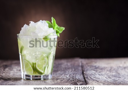 Caipirinha cocktail - stock photo
