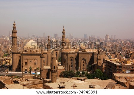 Cairo-The city of thousands minaret towers - stock photo