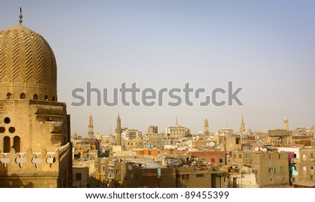 Cairo view from a tower - stock photo