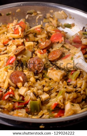 cajun jambalaya - stock photo