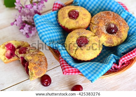 Cake and coffee. Cake with fruits. Round Cake. Cake close up. Cake on a plate. Homemade Cake. Whole Cake. - stock photo