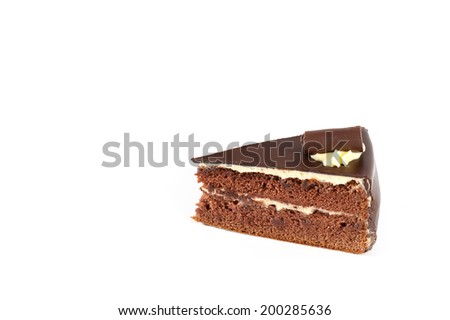 Cake chocolate isolated on white background