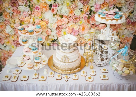 cake decorating - stock photo
