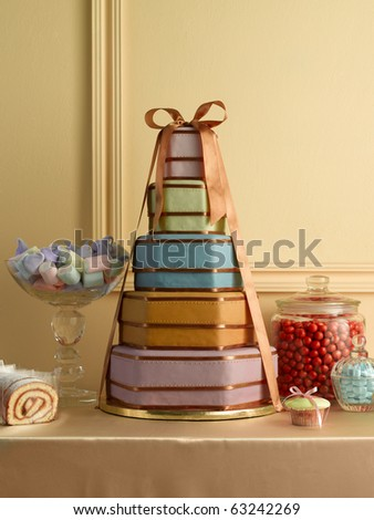 Cake for parties - stock photo