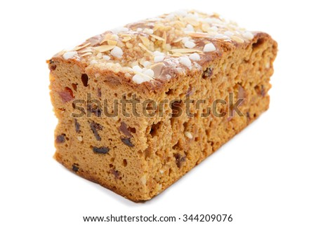 cake gingerbread isolated on a white background - stock photo