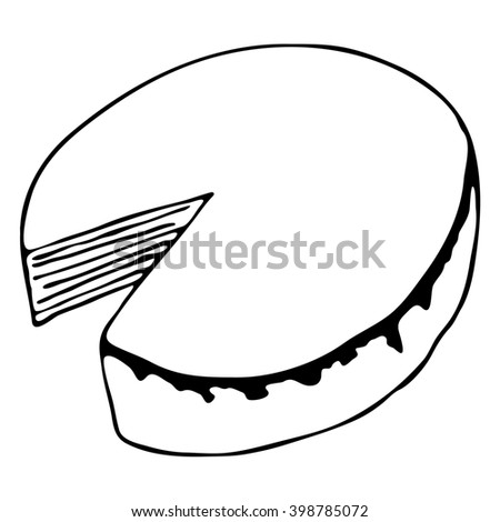cake isolated  drawing