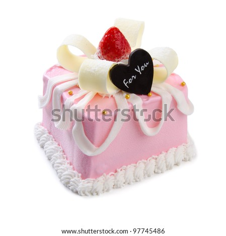 cake isolated on white background - stock photo