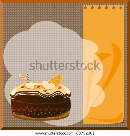 cake menu - stock photo