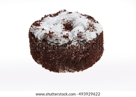 Cake on isolated white background