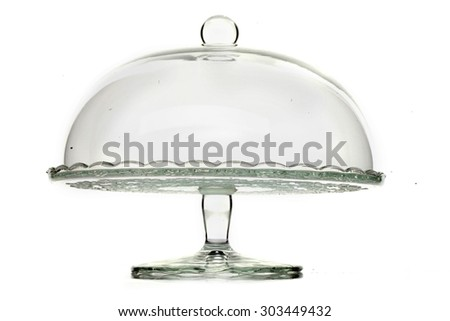 Cake stand isolated on white background. - stock photo