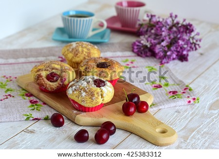 cake sweet dessert for the holiday home - stock photo