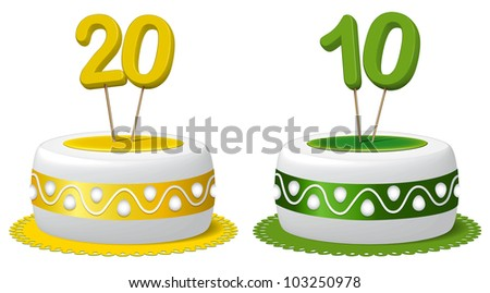 Cake ten years and twenty years