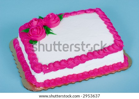Cake that can be used for many purposes - blank to add you message - stock photo
