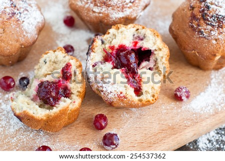 Cake with black currant jam. view inside - stock photo