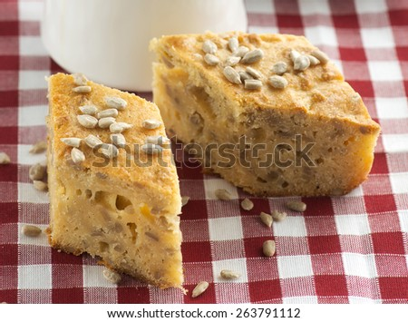 cake with kernel - stock photo