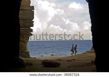 Cala azzurra in Favignana, Sicily - stock photo