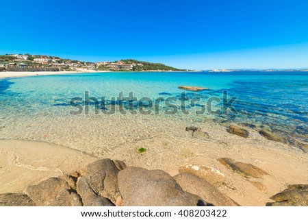 Cala Battistoni on a clear day, Sardinia