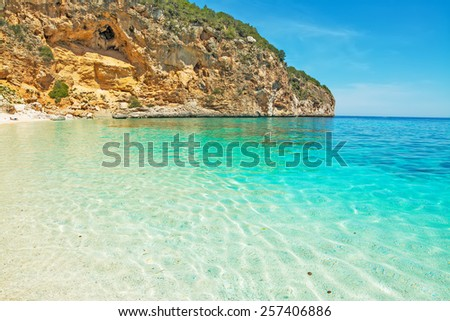 Cala Biriola on a clear summer day. Shot in Sardinia, Italy - stock photo