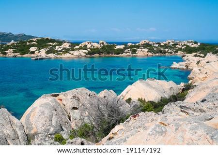 Cala Francese in La Maddalena island, Sardinia, Italy - stock photo