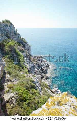Cala Macarella - Cala Macarelleta - Minorca - Spain - stock photo