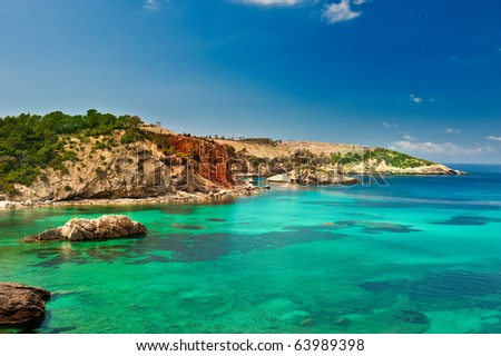 Cala Xarraca, a beautiful small bay in Ibiza Spain