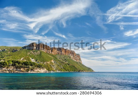 Calanques near Cassis in France, near Marseille - stock photo