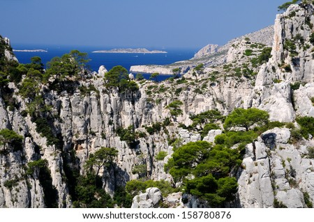 Calanques of Port Pin in Cassis in France  - stock photo