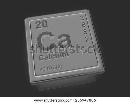 Calcium. Chemical element. 3d - stock photo