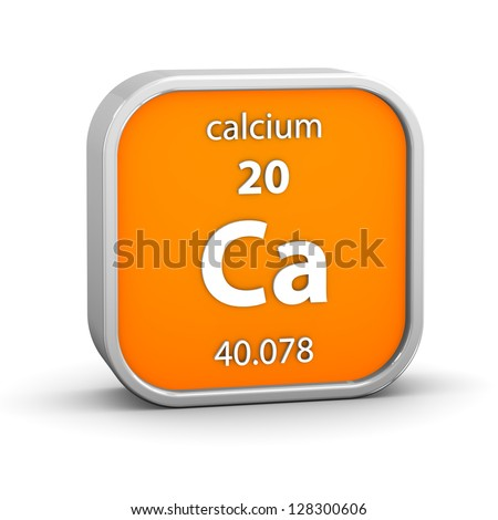Calcium material on the periodic table. Part of a series. - stock photo