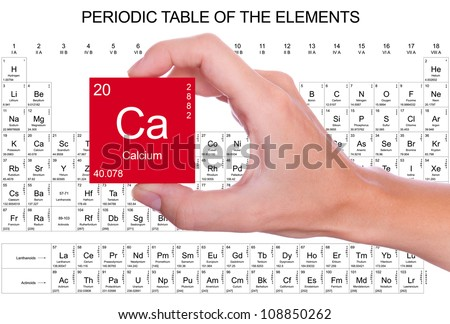 Calcium symbol handheld over periodic table stock photo edit now calcium symbol handheld over the periodic table urtaz Gallery