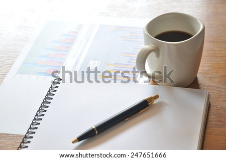 calculate and chart  - stock photo
