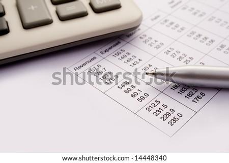 Calculating finances - stock photo