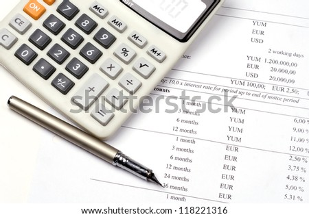 Calculation, banking, credit