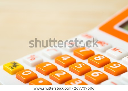 Calculator, accounting, modern. - stock photo