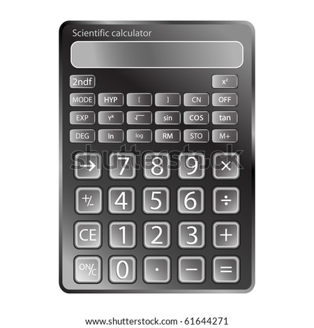 calculator against white background, abstract art illustration; for vector format please visit my gallery - stock photo