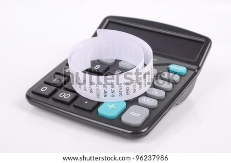 Calculator and account - stock photo