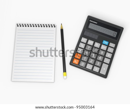 Calculator and notebook 2