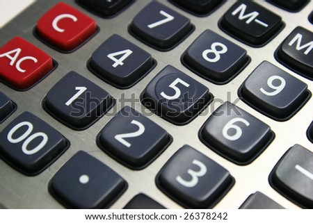calculator button - stock photo