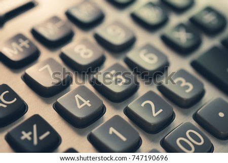 calculator buttons operations subtraction subtraction count electronic object for finance and business background or education accounting tool