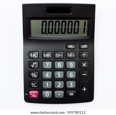 Calculator for calculate result of part per million ,defect part with one part per million