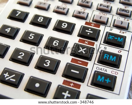 Calculator I - stock photo
