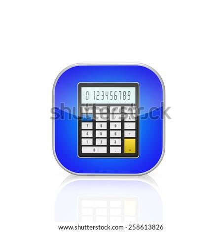 Calculator icon   isolated on white background - stock photo