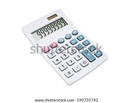 calculator isolate on the white background - stock photo