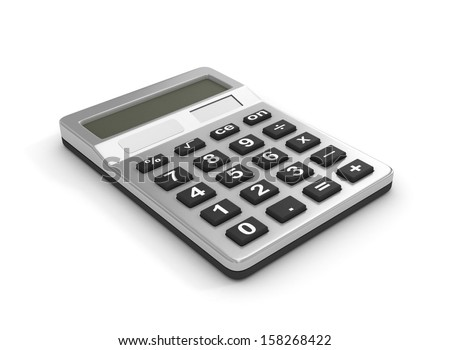 Calculator, isolated on a white background - stock photo